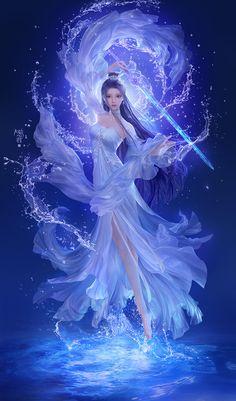 Dark Fantasy Art, Anime Art Fantasy, Fantasy Art Women, Fantasy Kunst, Beautiful Fantasy Art, Fantasy Girl, Fantasy Artwork, Beautiful Anime Art, Fantasy Wolf