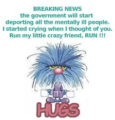 Reminds me of my friends and family.  It is going to be a busy road out there when we all have to start running