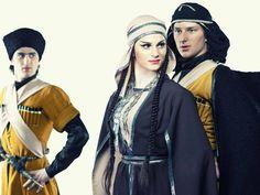 Georgische traditionelle Kleidung. ქართული ხალხური სამოსელი. Traditional Georgian Clothes, Costumes #clothes #costumes #kleidung