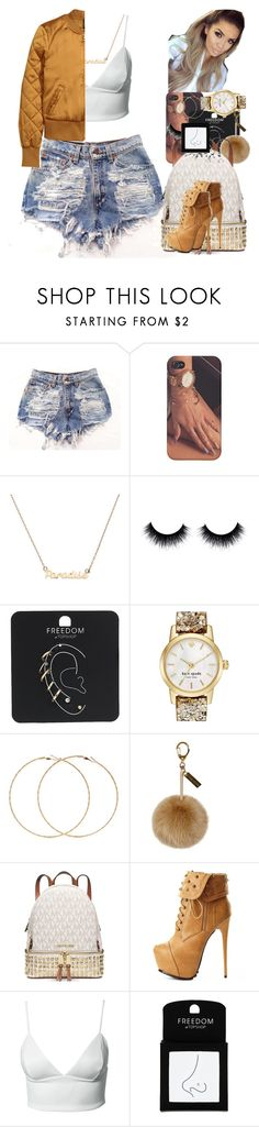 """Untitled #26"" by thaofficialtrillqueen ❤ liked on Polyvore featuring Topshop, Kate Spade, Forever 21, Michael Kors, Charlotte Russe, Dark Pink, women's clothing, women, female and woman"