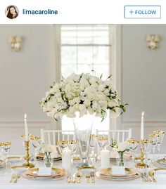White gold wedding reception decor