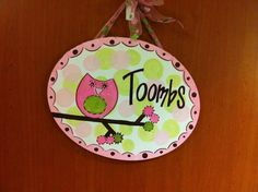Made for hospital door! Family or baby name painted so all the visitors will see it! Then can hang it in nursery !!