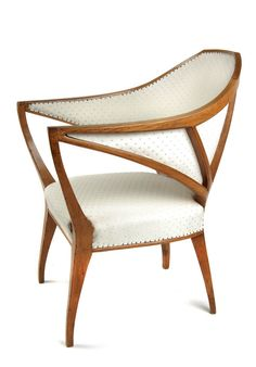 BRUNO PAUL armchair, 1901, cherry wood  |  SOLD $29,610 Germany, 2006