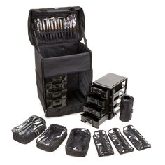 Seya Professional Rolling Makeup Case and Removable Makeup Bags | $167.99