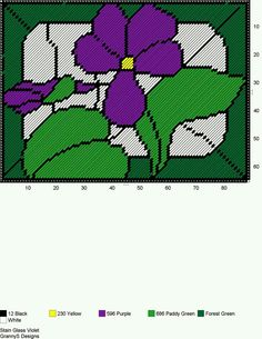 STAIN GLASS VIOLET by GrannyS Designs -- WALL HANGING