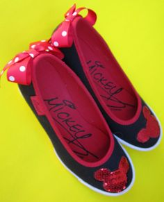 Mickey Mouse Shoes Disney Wedges High Heels by swankyturtle
