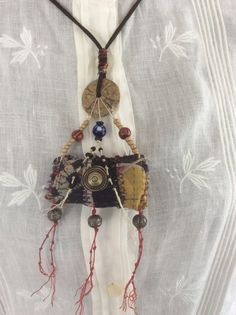 Kantha AMULET Necklace - Urban Gypsy Talisman Protective Jewelry