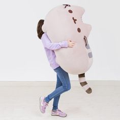 You can so jump onto this on a bad day. So big but So cute! Pusheen big Plush!!!