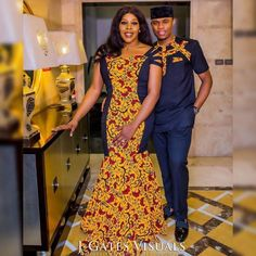 The most classic collection of beautiful traditional and ankara styles and designs for couples. These ankara styles collections are meant for beautiful African ankara couples Couples African Outfits, Couple Outfits, African Attire, African Print Dresses, African Fashion Dresses, African Dress, Ankara Fashion, Couple Style, Look Fashion