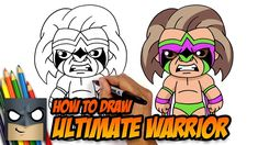 How to Draw Ultimate Warrior Easy Cartoon Drawings, Disney Drawings, Easy Drawings, Simple Cartoon, Cartoon Kids, Cartooning 4 Kids, Roblox Online, Cartoon Network Characters, Chibi Sketch