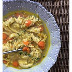 I am a big fan of soup, particularly on a cold winter-y day. Today I share with you a delicious chicken soup with fresh thyme, brown rice, sliced carrots, a little celery, and a hearty dose of the…
