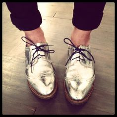 My new BFFs #shoes #metallic #brogues #stevenbystevemadden