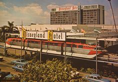 disneyland back in the day hotel and monorail
