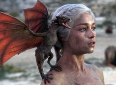 Game of Thrones, Drogon and Dany.