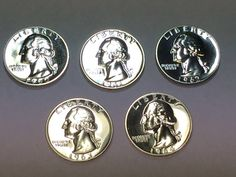 1960 1963 /& 1964 Proof Silver Washington Quarters 5 Coins in Plastic Case 1962 1961