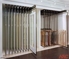 KN Crowder - CROWDERSLIDE TELESCOPIC SYSTEMS This CrowderSlide Telescopic system is being used at Door, Stairs  Railings Manufacturer's Showroom to showcase multiple door  railing types they have available with minimal space.