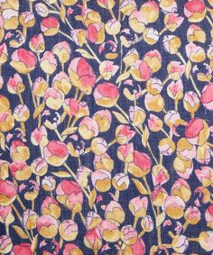 Blue and Pink Eliza Print Linen, Liberty Furnishing Fabrics. Shop more floral print fabrics from the Liberty Furnishing Fabrics collection a. Textiles, Textile Patterns, Textile Prints, Textile Design, Print Patterns, Fabric Design, Floral Print Fabric, Motif Floral, Floral Prints