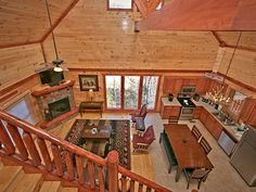 Living, dining and kitchen area of Big Bear Plunge - 3 Bedroom luxury cabin by Pigeon Forge