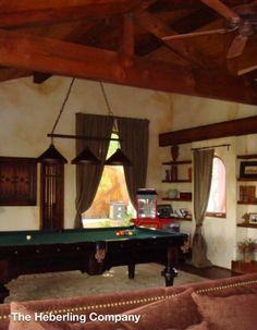 Guest house, pool table.