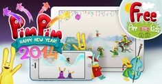 #HAPPY #NEW #YEAR #2014 and all the good things about the winter! PimPim Seasons - interactive mini games about the Blue Bunny! | http://app.lk/B6T?x=g
