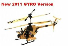 "Army Defender 3.5 Channel Gyroscope RC Helicopter (Medium) SAND CAMO 2011 New Helicopter BEST QUALITY by YDHELICOPTERS. $99.99. Real life helicopter styling. Unique material withstands crashes. About 15"" in Length. Equipped with Gyroscope System for simplest controls and extreme stabilities. Included with 2 action figures for true vivid flying actions!!!. Full function 3 channel radio control (Left /Right, Forward/Backward, Hover, and Lands). Equiped with gyroscope, is ..."