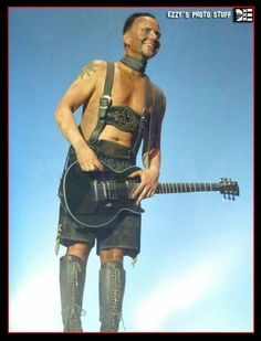 Ezzy's #Rammstein stuff. Damn lederhosen are hot #germany ❤