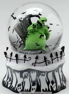 the nightmare before christmas snowglobe disney snowglobesoogie - Nightmare Before Christmas Snow Globes