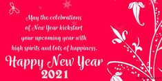 Short New Year Messages· Happy New Year Wishes to My Family and Friends, happy new year wishes quotes messages #HappyNewyear #HappyNewyearWishes #NewYear2021 #NewYearMessages New Year Wishes Quotes, Happy New Year Wishes, Happy New Year 2020, Messages For Friends, New Year Message, Message Quotes, Wish Quotes, Texts, First Love