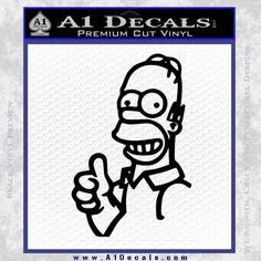 Homer Simpson TU Decal Sticker