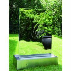 Inspirational Edelstahl Wasserwand XXL Format