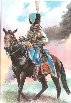Some sort of Napoleonic hussar. Judging from his braids, I say French prior to 1805