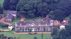 Second home: If as expected the Cambridges move in, the new conservatory could be built in the place of the current one, which overlooks the...