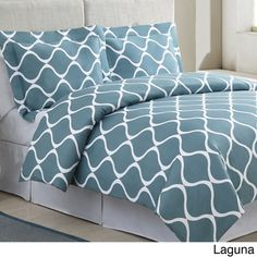 THIS for the guest bedroom (Love the color!) Banff Cotton 3-piece Duvet Cover Set
