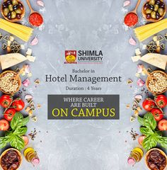 Shimla University - AGU is the considered to be the best institution in the region.  Join Bachelor of Hotel Management program at AGU for a profound career in the Industry. Explore more at http://bit.ly/2B2iwy8 or call at +91-9816222000, 18004198654 (Toll Free).