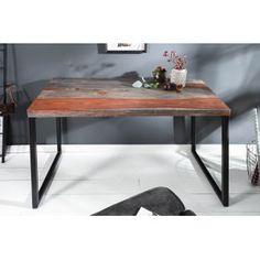 ELEMENTS tömör rózsafa íróasztal - 118cm | Modern fa íróasztal Office Table Design, Kare Design, Elegant, Office Desk, Dining Bench, Solid Wood, Modern, Furniture, Fa