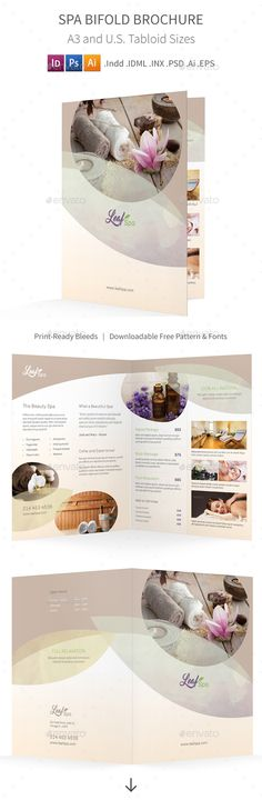 Spa Bifold / Halffold Brochure Template. Download here: http://graphicriver.net/item/spa-bifold-halffold-brochure-5/15714572?ref=ksioks