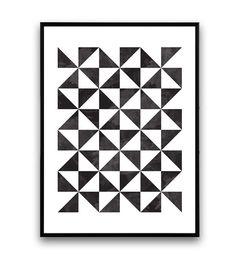 Art géométrique imprimer scandinave affiche par Wallzilla sur Etsy