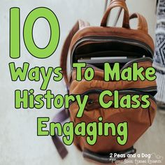 History class is much more than reading out of a textbook. Use these 10 tips to make your lessons engaging and relevant to your students. History For Kids, Study History, History Class, Student Teaching, Teaching Resources, Teaching History, Teaching Tools, 6th Grade Social Studies, Classroom Management Tips