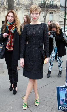 I want a long sleeved black lace dress!