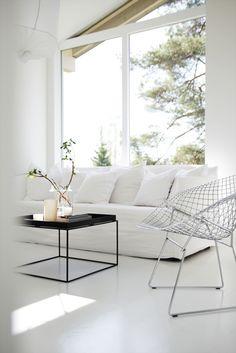 Elisabeth Heier's home. Livingroom