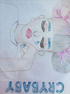 Melanie Martinez drawing crybaby