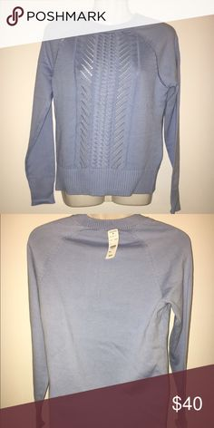 Baby Blue Brooks Brothers Sweater New with tags crewneck sweater Brooks Brothers Sweaters Crew & Scoop Necks