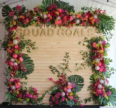 Custom Flower Wall for Chandon | Austin Florist | Austin Event Rentals | Corporate Event | VIP Party | Wild Sky Events | STEMS Floral Design + Productions