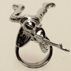 Gilded platinum little green army man ring. Hells yes. $350