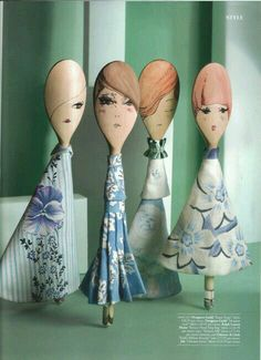 "craftstuff: ""(via dolls (wooden spoons) Creative Crafts, Diy And Crafts, Crafts For Kids, Arts And Crafts, Wooden Spoon Crafts, Wooden Spoons, Paper Dolls, Art Dolls, Painted Spoons"