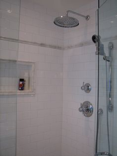 White Tile Shower Design, Pictures, Remodel, Decor and Ideas - page 14