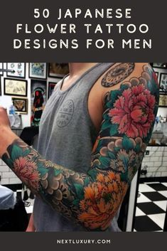 Japanese flower tattoos represent the top-notch tradition of ancient Asian art. Representing the complete life cycle as well as sexual prowess and beauty, the flower tattoo promotes a surprisingly masculine motif.For millennia, this inspiring flora has decked Japanese halls and man caves as calligraphy. #nextluxury #tattooideas #tattoodesigns