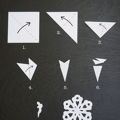 How to Make a Six Sided Paper Snowflake - - Holiday wreaths christmas,Holiday crafts for kids to make,Holiday cookies christmas, Diy Christmas Snowflakes, Christmas Art, Christmas Projects, Winter Christmas, Christmas Decorations, Paper Snowflakes Easy, How To Make Snowflakes, Diy Snowflake Paper, Grapevine Christmas