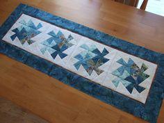 Lil Twister tutorial blue batik runner