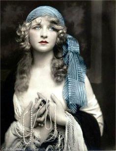 1920's Blue Tinted Postcard.